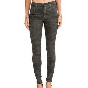 COH Rocket High Rise Skinny in Camo Leatherette 29